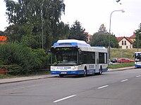 Plynový autobus tedom c12g vyráběný v třebíči