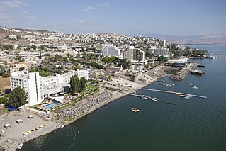 Israeli city on the western shore of the Sea of Galilee