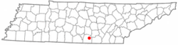Location of Cowan, Tennessee