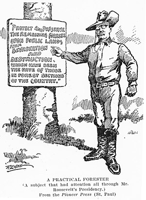 Environmental movement in the United States - The conservation policies of Theodore Roosevelt.