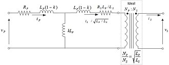 Leakage inductance - Fig. 4 Nonideal transformer equivalent circuit in terms of coupling coefficient k
