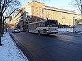 TTC bus 7683 proceeding west on The Esplanade, 2015 01 16 (2) (16295479262).jpg