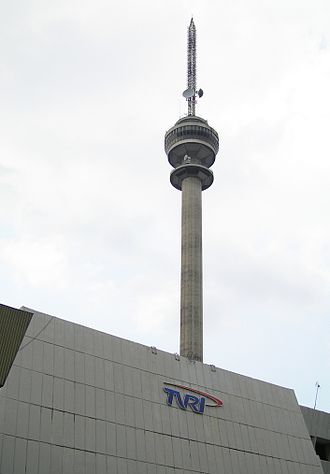 TVRI - The television tower of TVRI at its headquarters in Jakarta.