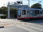 T Third Street train at San Francisco Bay Railroad diamond, June 2018.JPG