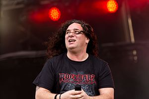 Tankard (band) - Singer Andreas Geremia at Rockharz Open Air 2016 in Germany