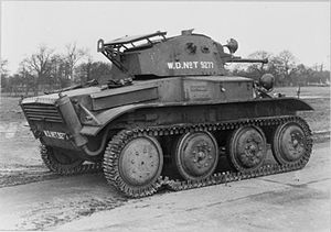 Light Tank Mk VII Tetrarch - Side and rear view of a Tetrarch light tank