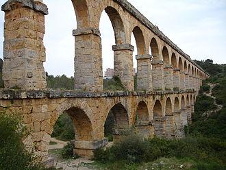 Catalonia - A Roman aqueduct in Tarragona