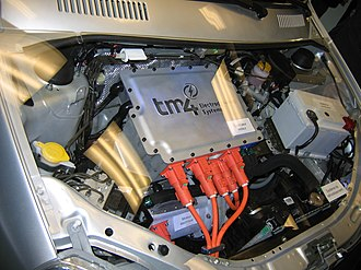 Economy of Quebec - Tata Indica EV engine bay featuring TM4 MФTIVE electric motor