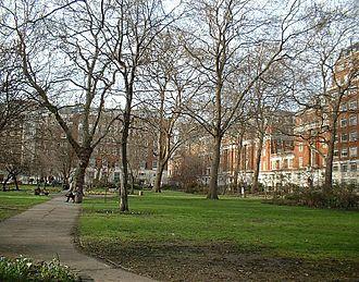Tavistock Square - Tavistock Square, looking north, BMA building on the right