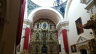 18th century golden altar piece insede the Tegucigalpa cathedral. Tegucigalpa interior cathedral.jpg