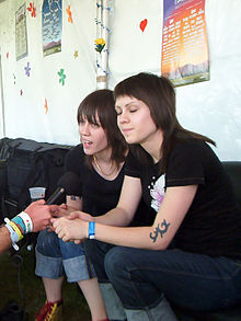 Tegan and Sara, 2005 interview.jpg
