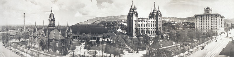 Panorama from South Temple Street taken in 1912