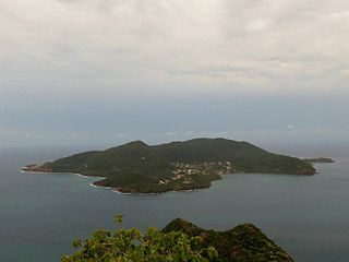 island in archipelago of Les Saintes, Guadeloupe, France