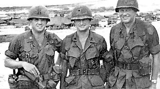 Battle of Ong Thanh - Lieutenant Colonel Terry Allen Jr. (center) and Sergeant Major Francis Dowling (right) were both killed on October 17, 1967.