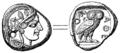 Tetradrachma från Aten (omkr 490 fKr, ur Nordisk familjebok).png