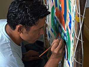 Norbulingka Institute - A thangka painter, Norbulingka Institute