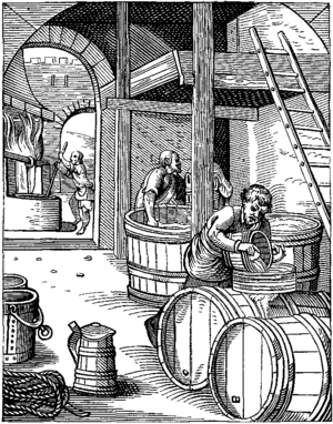 Brewing - A 16th-century brewery