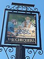 The Chequers pub sign, Old Harlow, May 2021.jpg