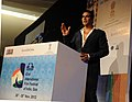 The Chief Guest IFFI, Cinestar Akshay Kumar addressing at the inaugural ceremony of the 43rd International Film Festival of India (IFFI-2012), in Panaji, Goa on November 20, 2012.jpg