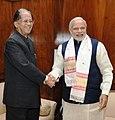 The Chief Minister of Assam, Shri Tarun Gogoi calls on the Prime Minister, Shri Narendra Modi, in New Delhi on December 16, 2015.jpg