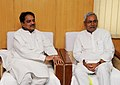 The Chief Minister of Bihar, Shri Nitish Kumar calls on the Union Minister for Rural Development and Panchayati Raj, Shri Vilasrao Deshmukh, in New Delhi on May 12, 2011.jpg