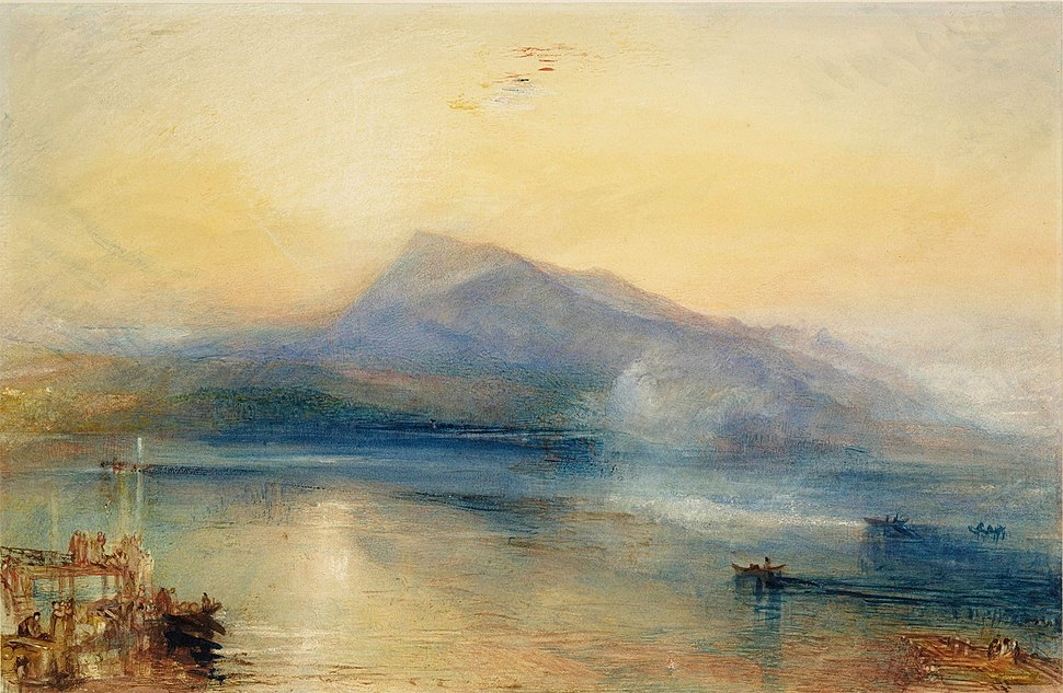 The Dark Rigi, the Lake of Lucerne, Showing the Rigi at Sinrise by Turner
