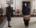 The High Commissioner for Tonga, HRH Princess Angelika Latufuipeka Tuku'aho, presents credentials to the Governor-General. 01.jpg