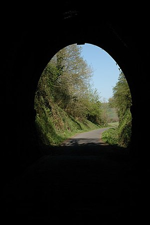 Landcross, Devon - The Landcross Tunnel on the Tarka Trail