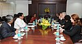 The Minister for Civil Aviation and Transport of France, Mr. Frederic Cuvillier meeting the Union Minister for Civil Aviation, Shri Ajit Singh, in New Delhi on February 14, 2013.jpg