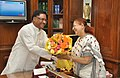 The Minister of State for Mines, Steel and Labour & Employment, Shri Vishnu Deo Sai calls on the Speaker, Lok Sabha, Smt. Sumitra Mahajan, in New Delhi on June 10, 2014.jpg