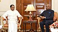 The President of the Democratic Socialist Republic of Sri Lanka, Mr. Maithripala Sirisena calling on the President, Shri Ram Nath Kovind, at Rashtrapati Bhavan, in New Delhi on March 10, 2018.jpg