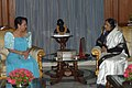 The President of the Philippines, Ms. Gloria Macapagal Arroyo meeting with the President, Smt. Pratibha Devisingh Patil, in New Delhi on October 05, 2007.jpg