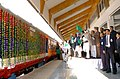 The Prime Minister, Dr. Manmohan Singh flagging off the First Train in the valley between Anantnag-Srinagar-Rajwansher, at Srinagar on October 11, 2008 (1).jpg