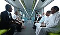 The Prime Minister, Shri Narendra Modi and other dignitaries take a ride on Kochi Metro, in Kerala on June 17, 2017 (1).jpg