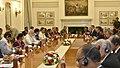 The Prime Minister, Shri Narendra Modi and the Prime Minister of Malaysia, Dato' Sri Mohd Najib Bin Tun Abdul Razak, at the delegation level talks, at Hyderabad House, in New Delhi on April 01, 2017 (1).jpg