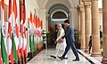 The Prime Minister, Shri Narendra Modi with the Prime Minister of Canada, Mr. Justin Trudeau, at Hyderabad House, in New Delhi on February 23, 2018 (2).jpg