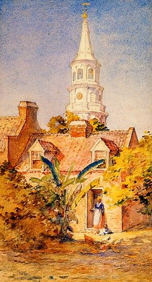 St. Michael's Episcopal Church (Charleston, South Carolina) - Image: The Rector's Kitchen Alice Ravenel Huger Smith