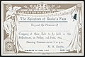 The Spinsters of Burke's Pass request the pleasure of ...... company at their ball, to be held in the Schoolroom, on Friday, 2nd June, 1899. Dancing commences at 8.30 p.m. A M Keeffe, Hon. Sec. Herald (21093230390).jpg
