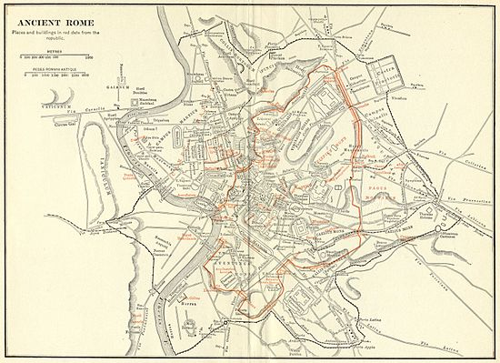 Topographic Map Of Rome.Topography Of Ancient Rome Wikipedia