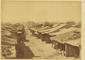 The Town of Barkul (Zhenxi Fu) Incorporated a Manchu and a Chinese Town within the Walls; Showing Elegant Temple Roofs and Mud and Lime Roofs of Low Shops and Dwellings. Xinjiang, China, 1875 WDL2063.png