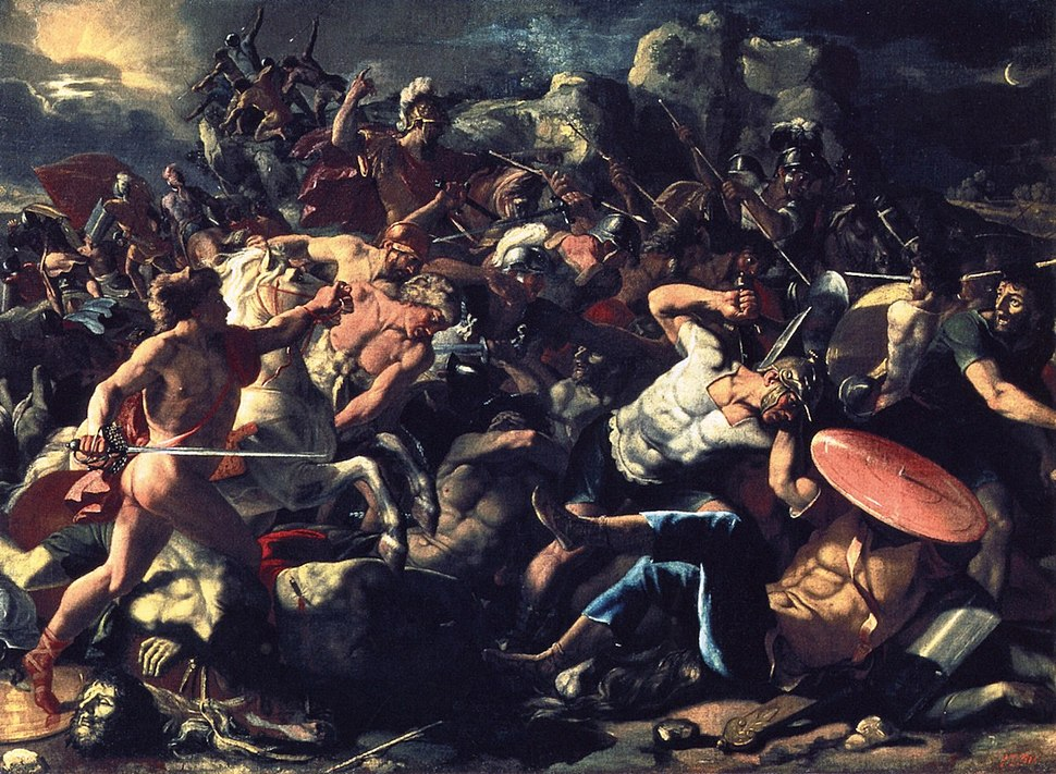 The Victory of Joshua over Amorites. Nicolas Poussin - 1624-1626