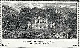 The Villa of Havod, Cardiganshire. Seat of Col. Johnes