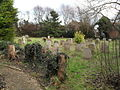 The churchyard in late December at The Assumption, East Wittering - geograph.org.uk - 1635955.jpg