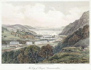 Bangor, Gwynedd - Looking down on Bangor ca. 1860