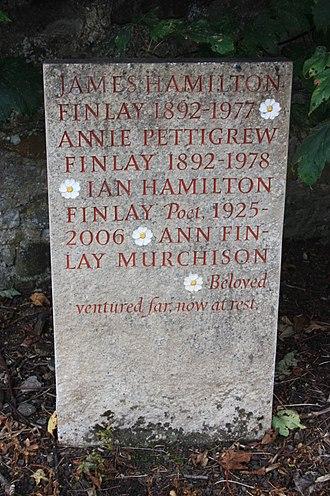Ian Hamilton Finlay - The grave of Ian Hamilton Finlay, Abercorn churchyard