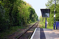 The line to Henley at Wargrave Station - geograph.org.uk - 2377521.jpg