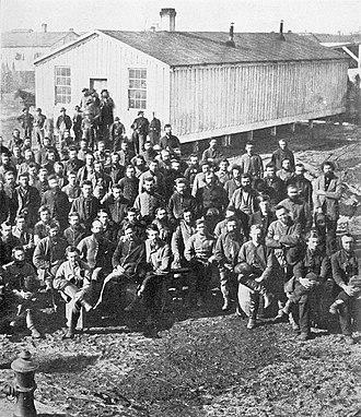 Camp Douglas (Chicago) - Image: The photographic history of the Civil War thousands of scenes photographed 1861 65, with text by many special authorities (1911) (14739750216)