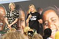 Theresa May and Justine Greening speaking at -YouthForChange (14503114159).jpg