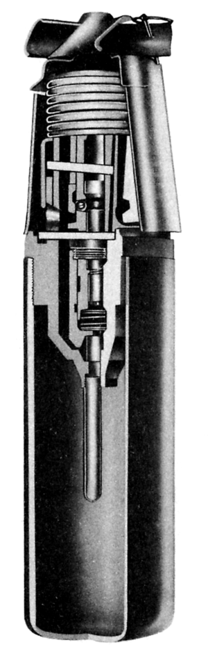 Thermos bomb - A cross section of the bomb