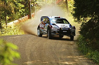 Thierry Neuville - Neuville en route to second place at the 2013 Rally Finland.